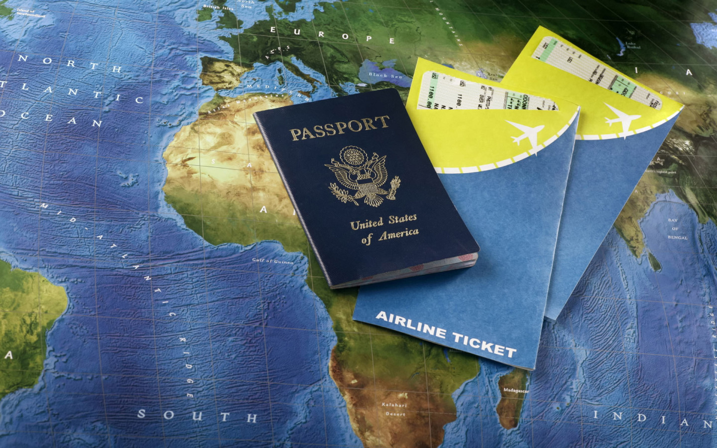 World-Travel-Tourism-Passport-Visa-Plane-Ticket